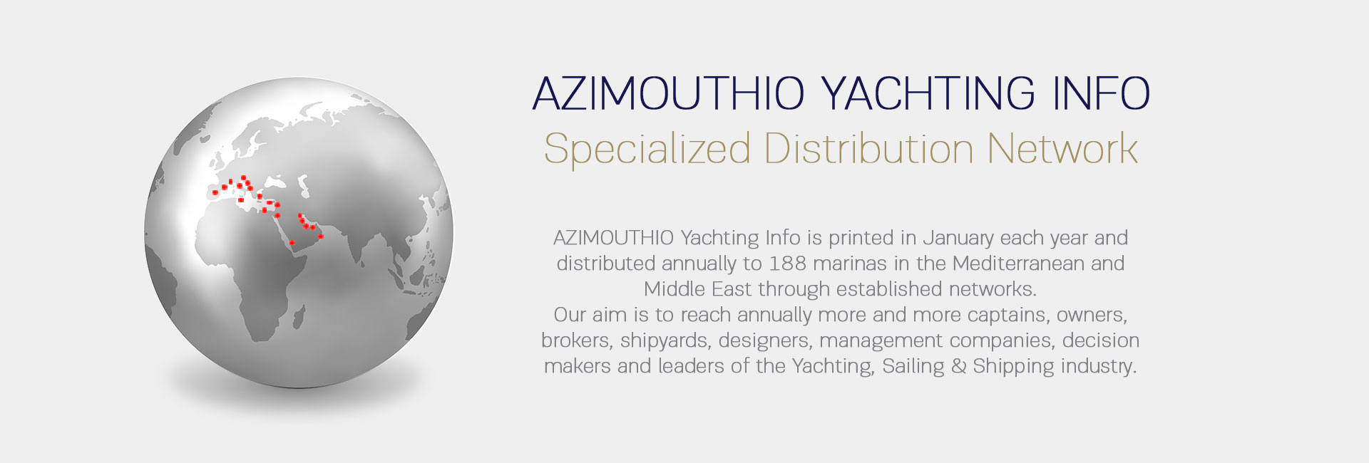 Azimouthio printed yachting directory distribution top cover