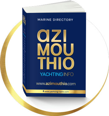 printed azimouthio yachting directory top cover