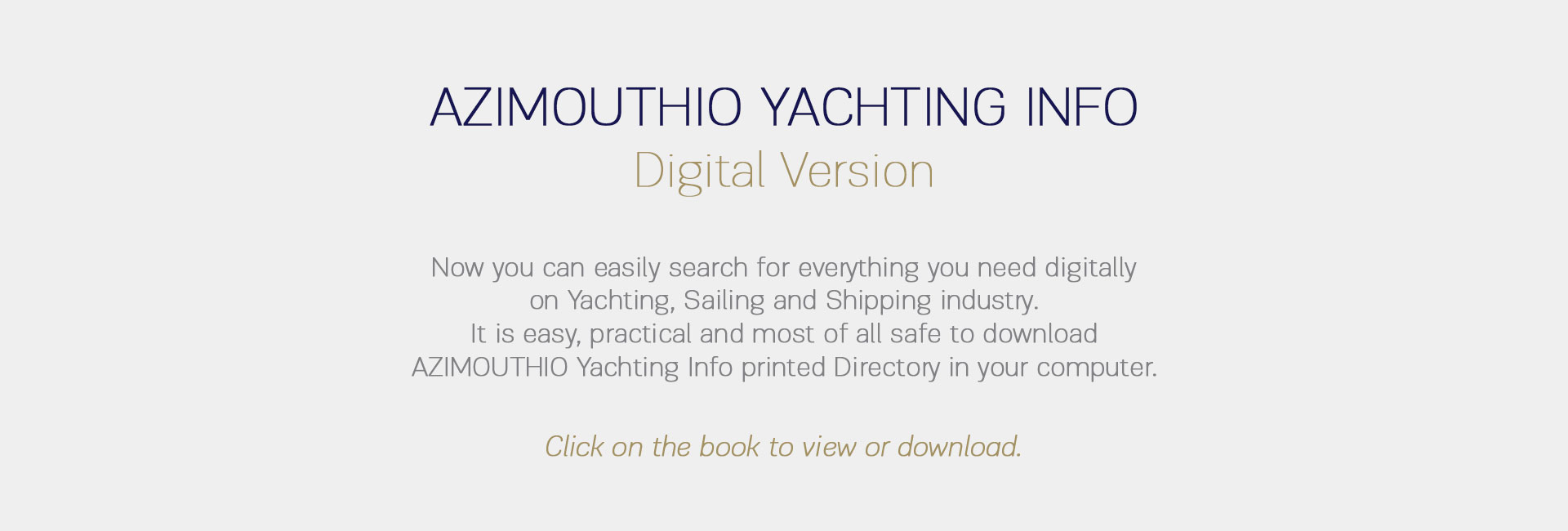 Digital Book by Azimouthio Yachting Info directory