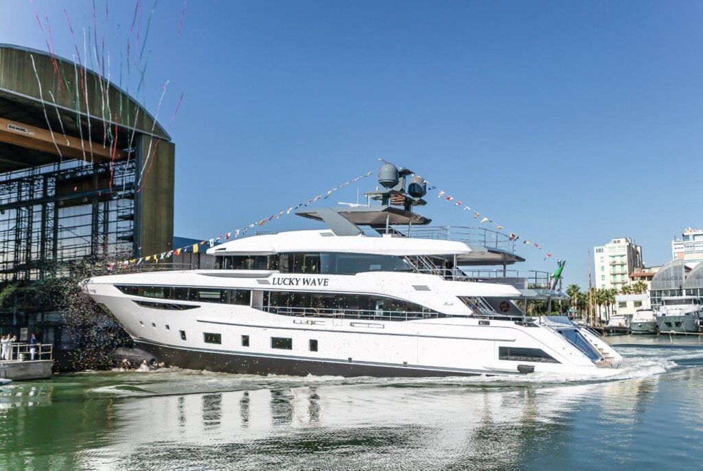 The Diamond 44M is the fiberglass flagship of the Benetti Class category, boasting a 102 sqm Sun Deck - the largest on the market for this size - and a sophisticated ventilation system, which ensures fresh and clean air throughout the yacht. There are three more units under construction.