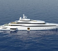 The A group unveils their new 85m mega yacht A470 project