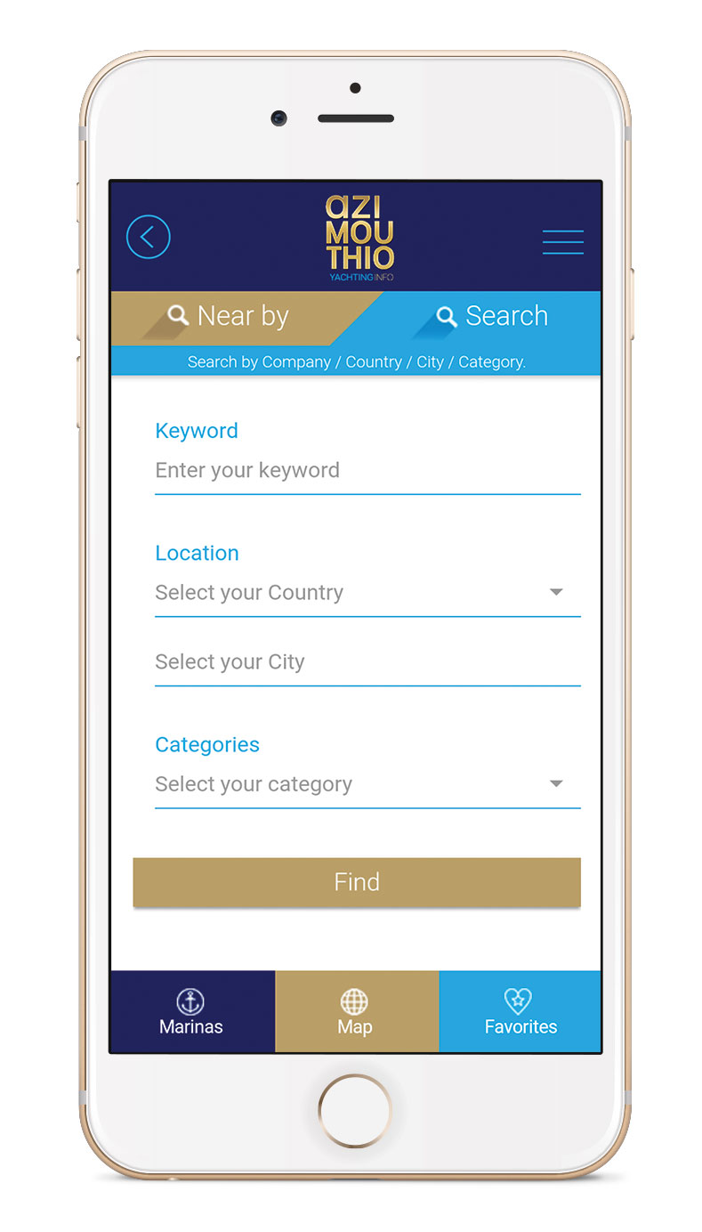 SEARCH APP by azimouthio yachting info directory