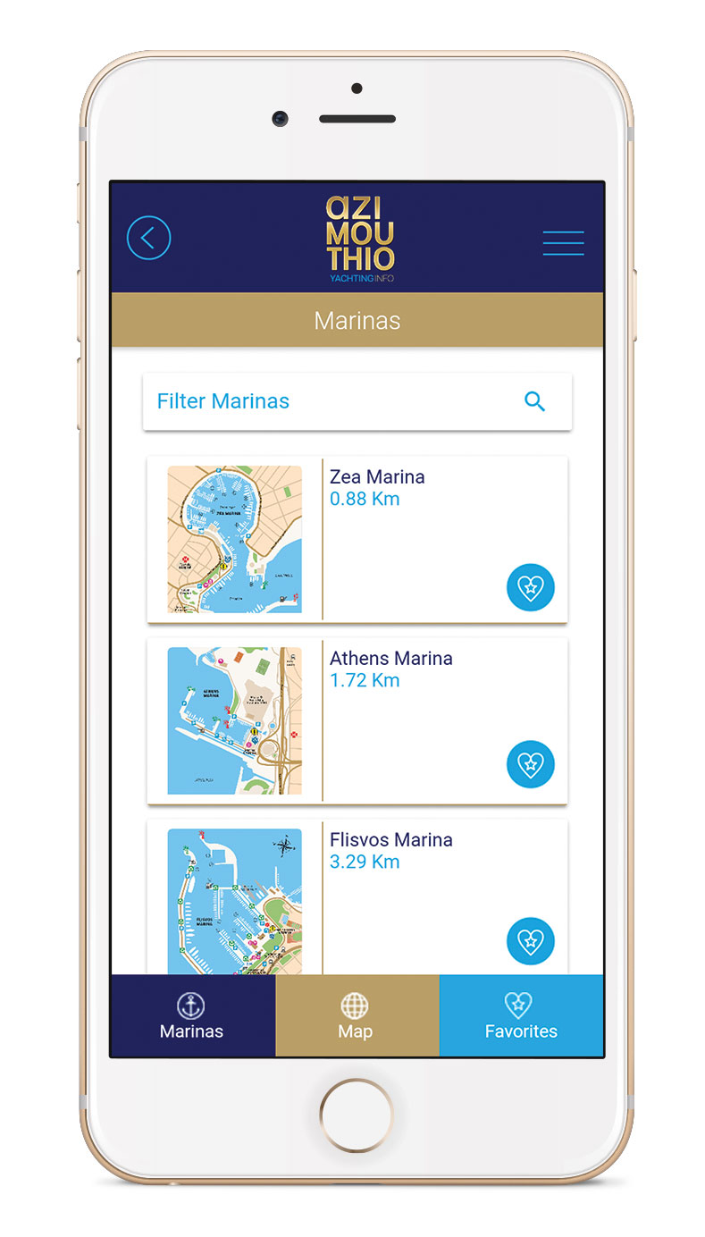 MARINAS APP by azimouthio yachting info directory